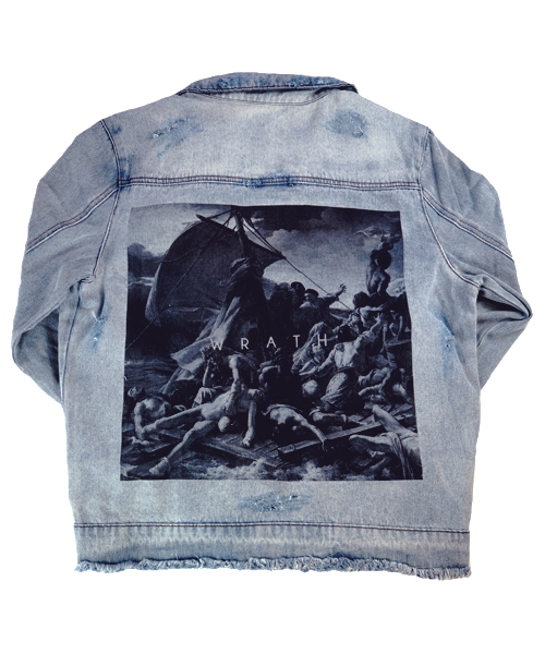 wrath denim jacket back